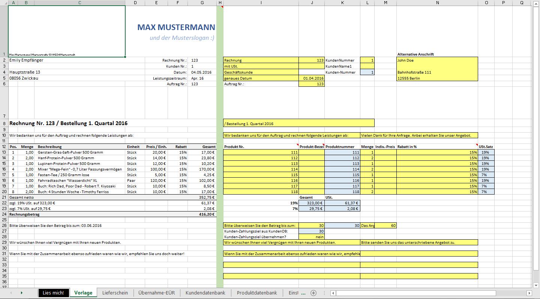 Excel Vorlage Automatisierte Angebots Und Vorlage Tabelle Excel Rechnung Erstellen Angebot Muster Lieferschein Kundendatenbank Angebots Mit Word Pro In 2020 Fawn