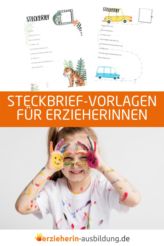 Der Kreative Steckbrief Fur Erzieher Im Kindergarten Vorlagen Und Muster In 2020 Steckbrief Erzieherin Elternabend Kindergarten Steckbrief