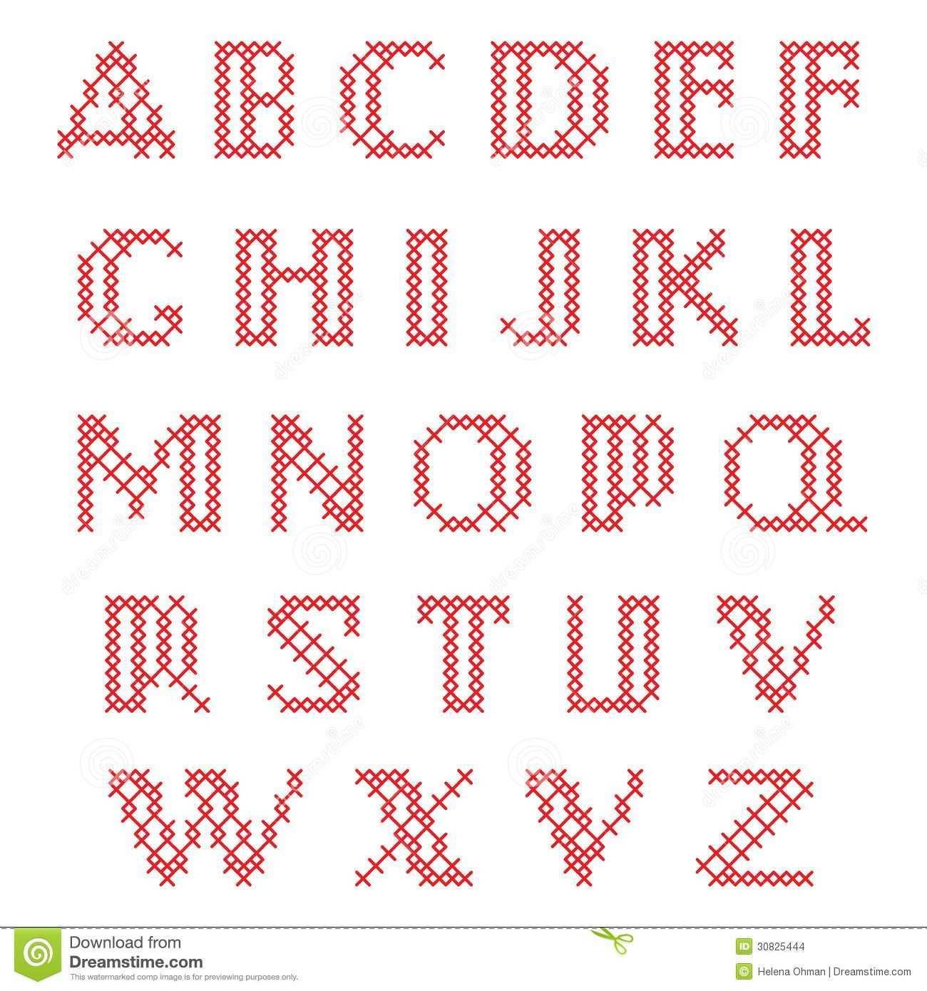 Kreuzstich Alphabet Kreuzstich Buchstaben Sticken Alphabet Sticken