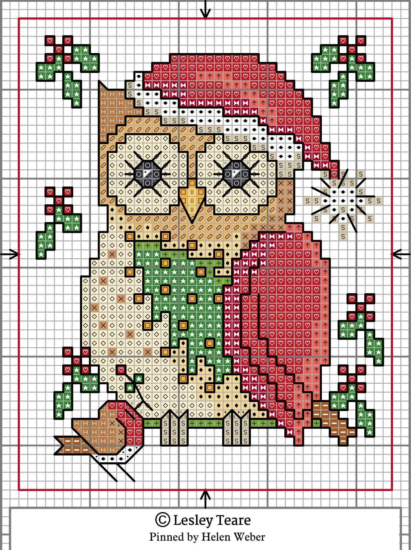 December Owl Kreuzstichmuster Kreuzstich Eule Sticken Kreuzstich