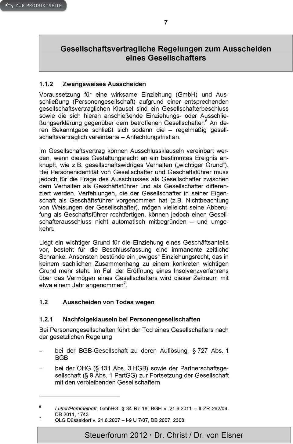 Gesellschaftsvertragliche Regelungen Zum Ausscheiden Eines Gesellschafters Pdf Free Download