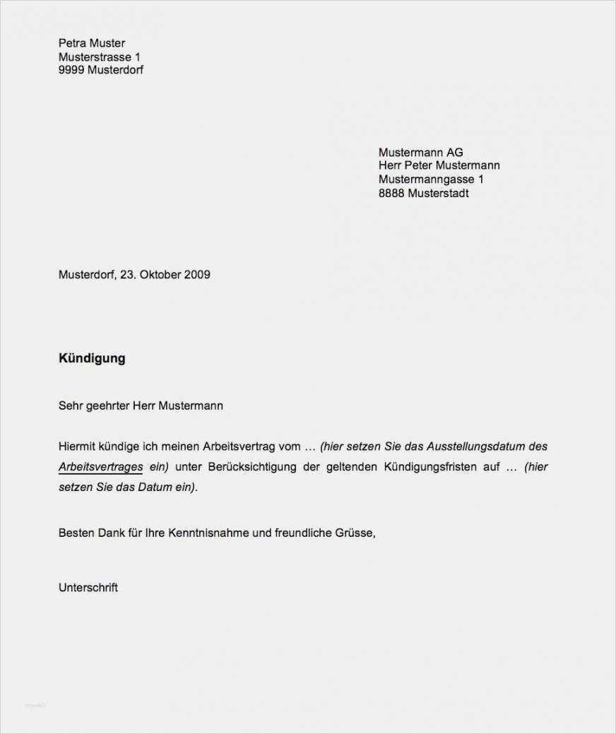 Interessant Kundigung Vorlage Arbeitsvertrag Vorlagen Word Kundigung Schreiben Kundigung