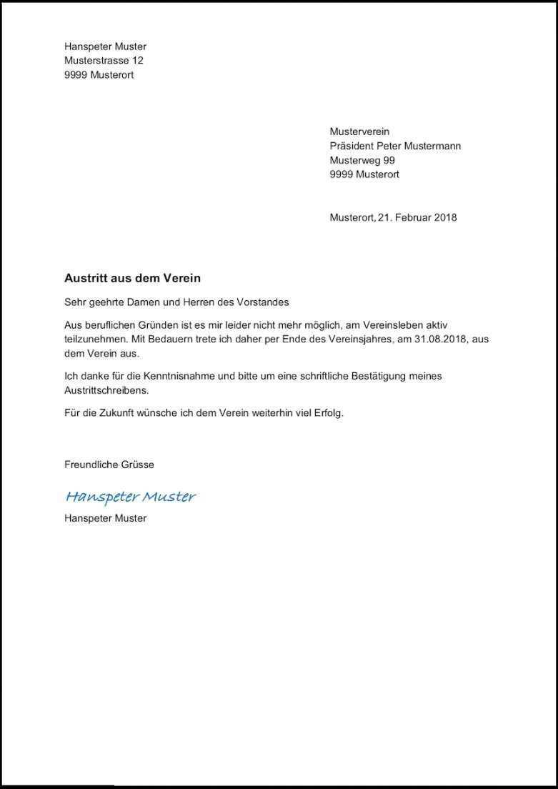 Experte Kundigung Sportverein Vorlage Word Vorlagen Word Kundigung Schreiben Vorlagen