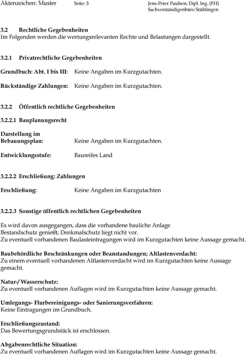 Aktenzeichen Muster Seite 1 Jens Peter Paulsen Dipl Ing Fh Sachverstandigenburo Stuhlingen Pdf Kostenfreier Download