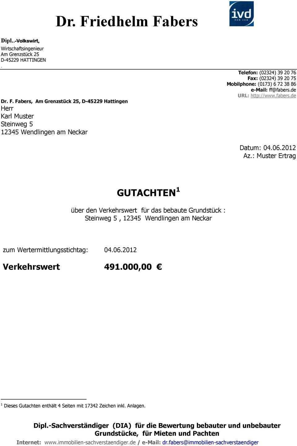 Gutachten 1 Uber Den Verkehrswert Fur Das Bebaute Grundstuck Steinweg 5 Wendlingen Am Neckar Pdf Free Download