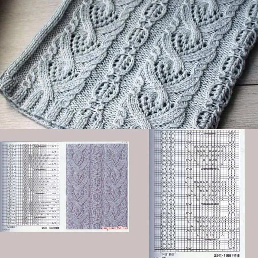 Snud Cables And Lace Charted Zopfmuster Stricken Muster Stricken Strickmuster