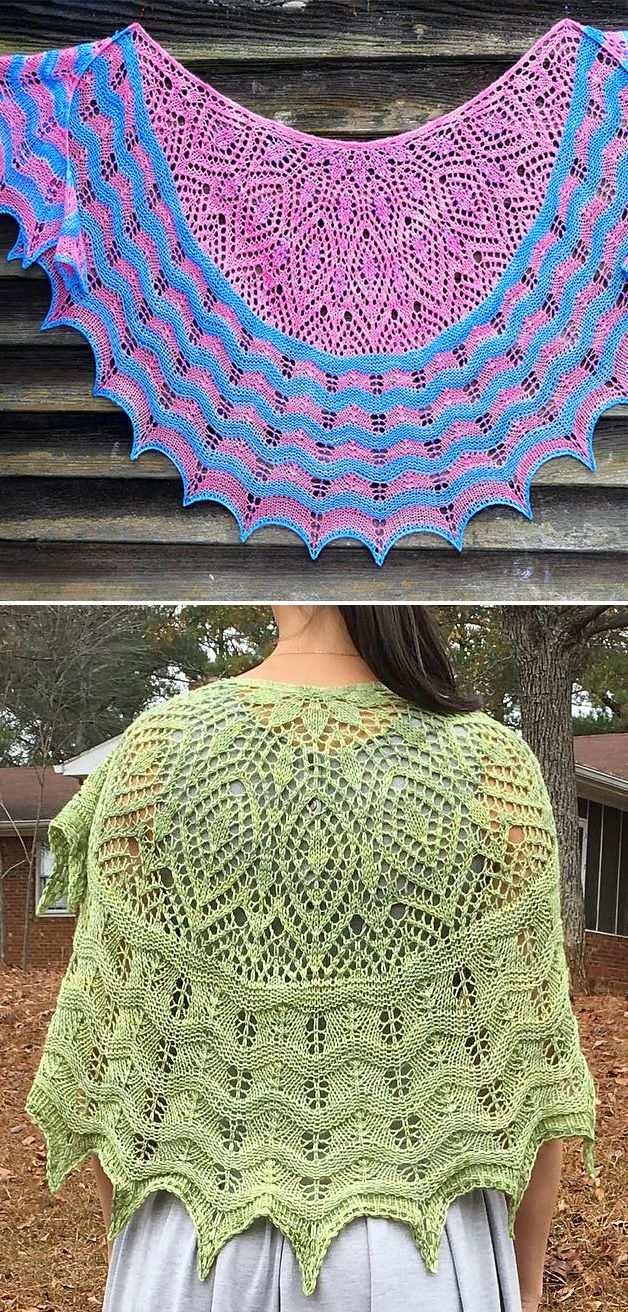 Free Knitting Pattern For Anna S Hope Lace Shawl Crescent Shaped Lace Shawl With Alternating Stripe Mit Bildern Strickmuster Stricken Schultertuch Stricken Tuch Stricken