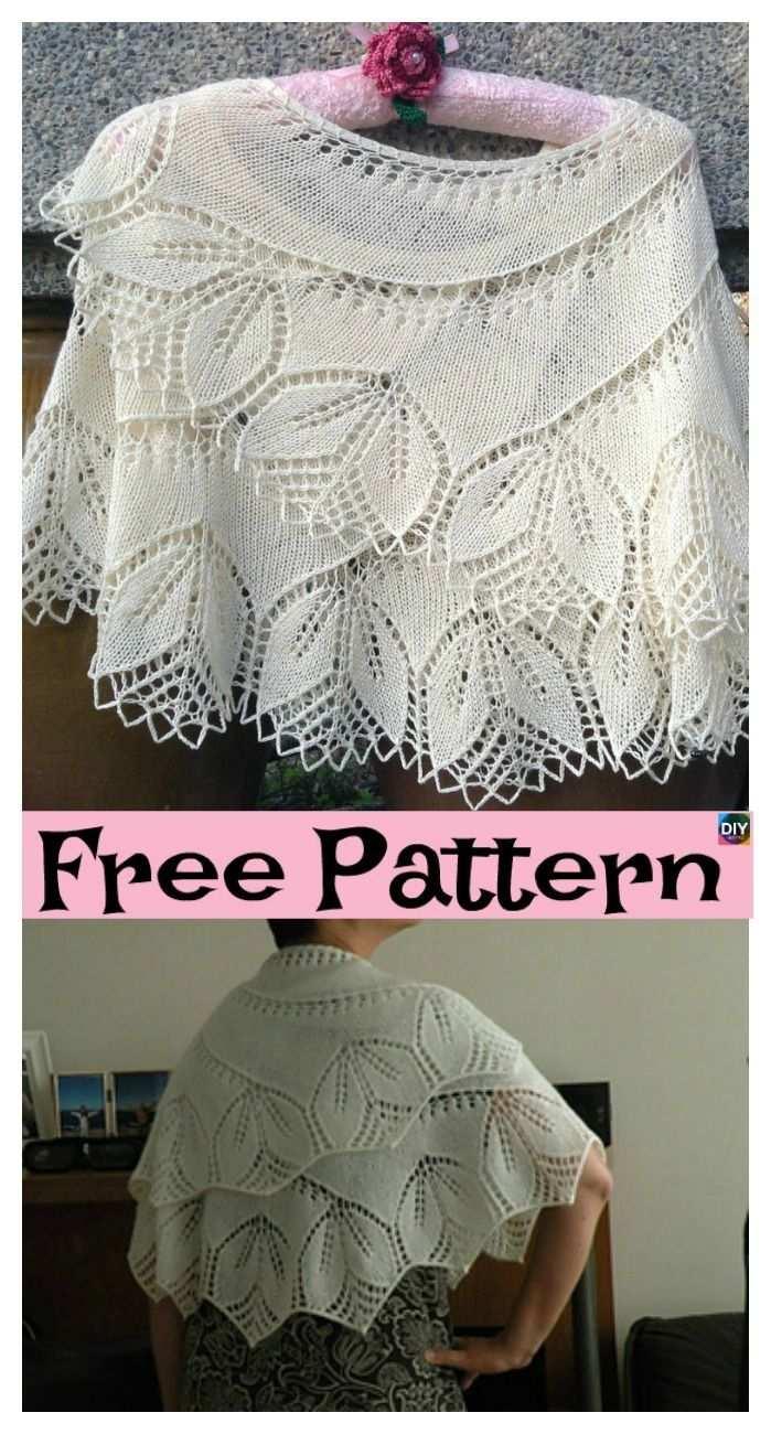 8 Pretty Knitting Lace Shawl Free Patterns Freeknittingpattern Lace Laceshawl In 2020 Spitzenstrickerei Spitze Strickmuster Schultertuch Stricken