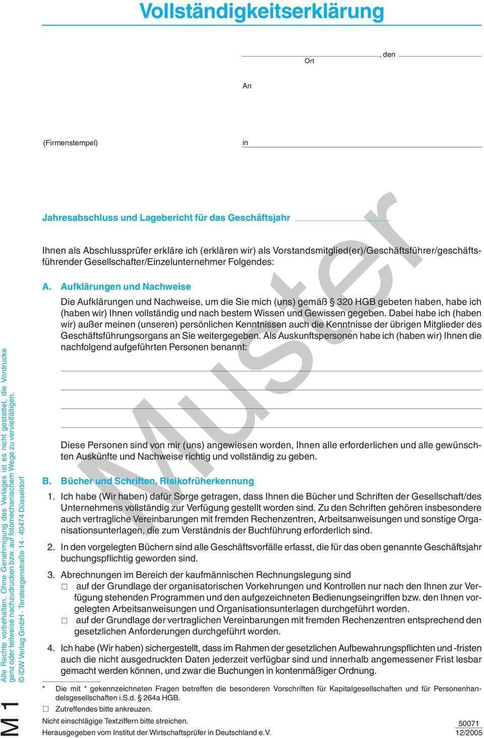 Vollstandigkeitserklarung Muster Pdf Free Download