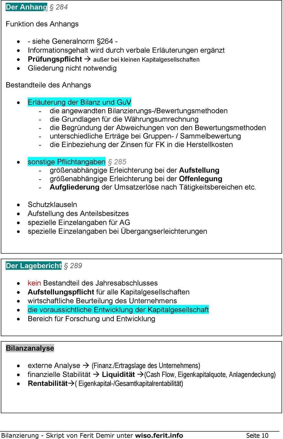 Bilanzierung Skript Zusammenfassung Handelsrechtliche Bilanzierung Bilanz Guv Anhang Lagebericht Pdf Free Download