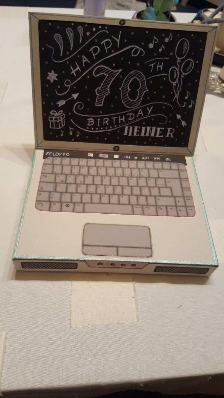 Laptop Aus Pappe Papier Falten Basteln Pappe