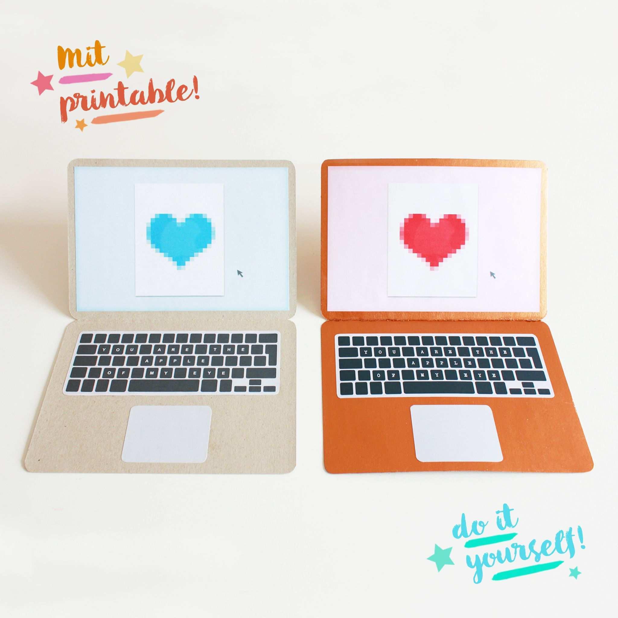 Diy Apple Karte Zum Valentinstag Basteln Free Printable Diy Blog Valentinstag Basteln Gutschein Erstellen Valentinstag