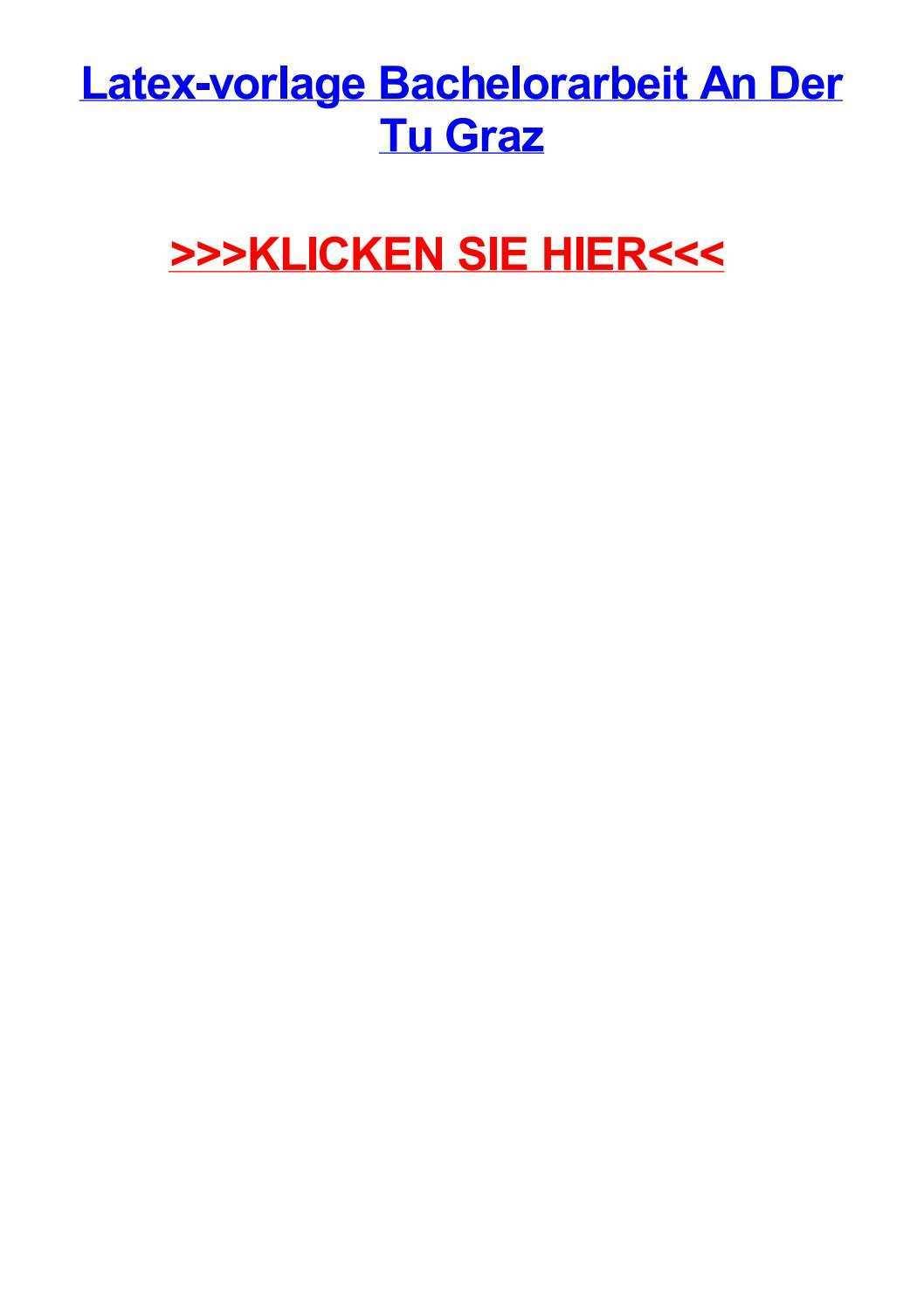 Latex Vorlage Bachelorarbeit An Der Tu Graz By Michaelwafx Issuu