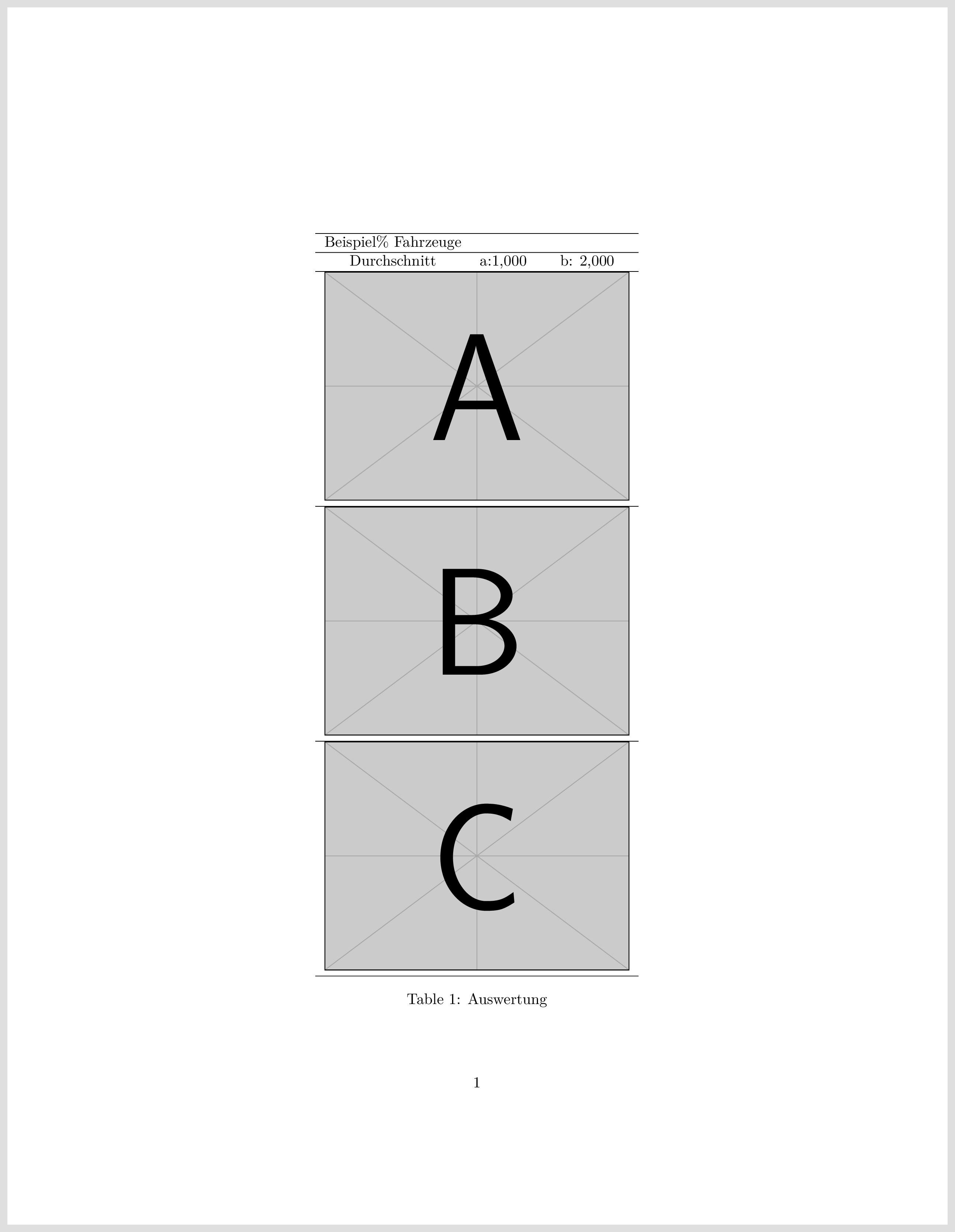 Tabelle Mit Bildern Texwelt