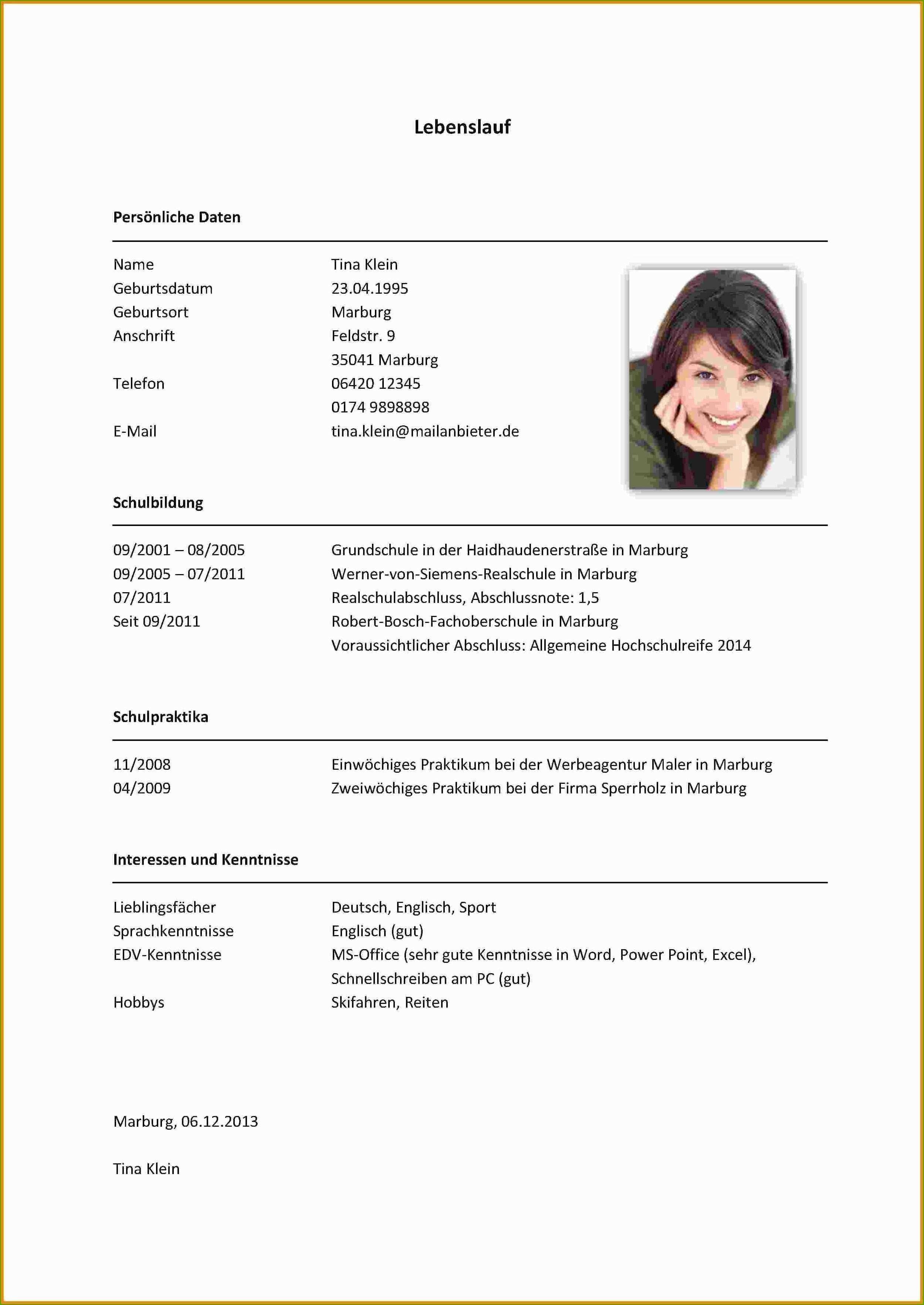 Einzigartig Vorlage Lebenslauf 2016 Briefprobe Briefformat Briefvorlage Lebenslauf Fur Schuler Vorlagen Lebenslauf Lebenslauf
