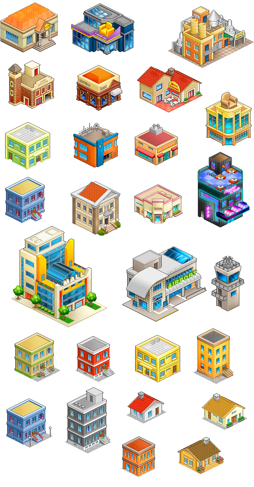 Mys Buildings1 Png 883 1 695 Pixels Isometric Art Game Concept Art Isometric Drawing