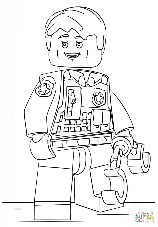 Ausmalbild Lego Verdeckt Ermittelder Polizist Ausmalbilder Kostenlos Zum Ausdrucken Ausmalbilder Lego Polizei Ausmalen