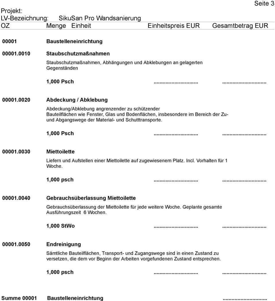 Muster Leistungsverzeichnis Pdf Free Download