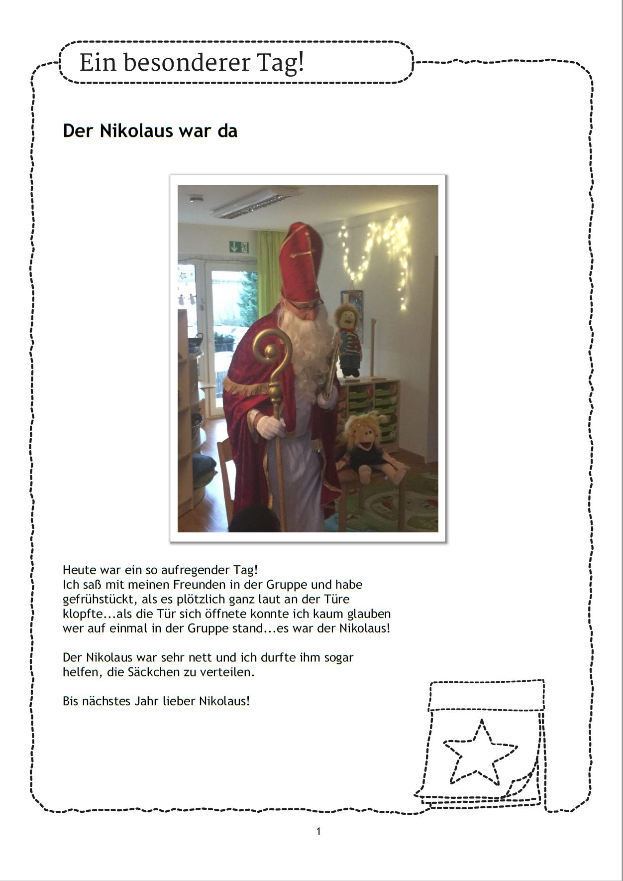 Der Nikolaus Ist Da Wie Reagieren Die Kinder Wer Kann Ein Gedicht Aufsagen A Schule Vorschule Portfolio Vorschulbuch Kindertageseinrichtung Nikolaus