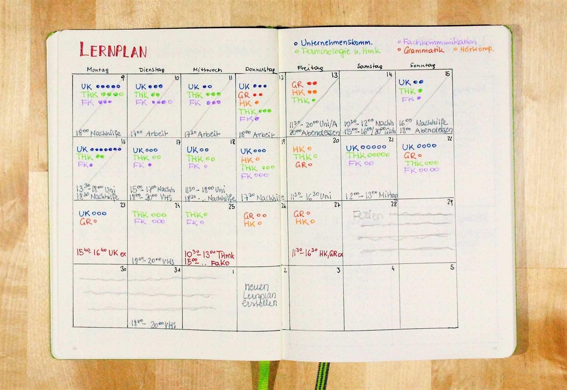 Einen Lernplan Erstellen Lernplan Abitur Vorbereitung Lernen