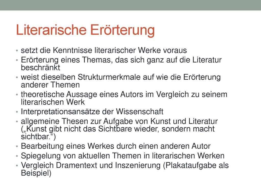 Dramatische Texte Im Rahmen Von Klausuraufgaben Ppt Herunterladen
