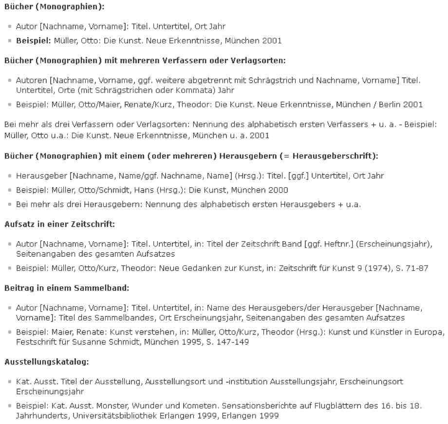 Literaturverzeichnis Hausarbeit Uberblick Mit Vielen Beispielen
