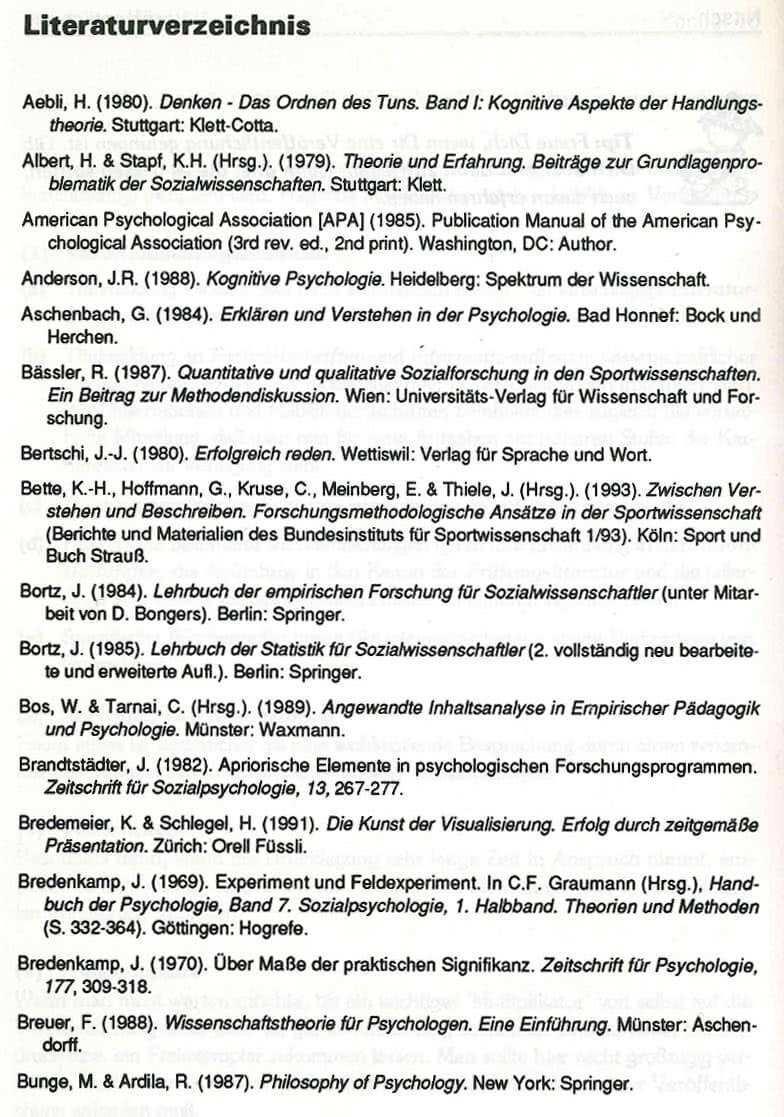 Literaturverzeichnis Das Regelwerk