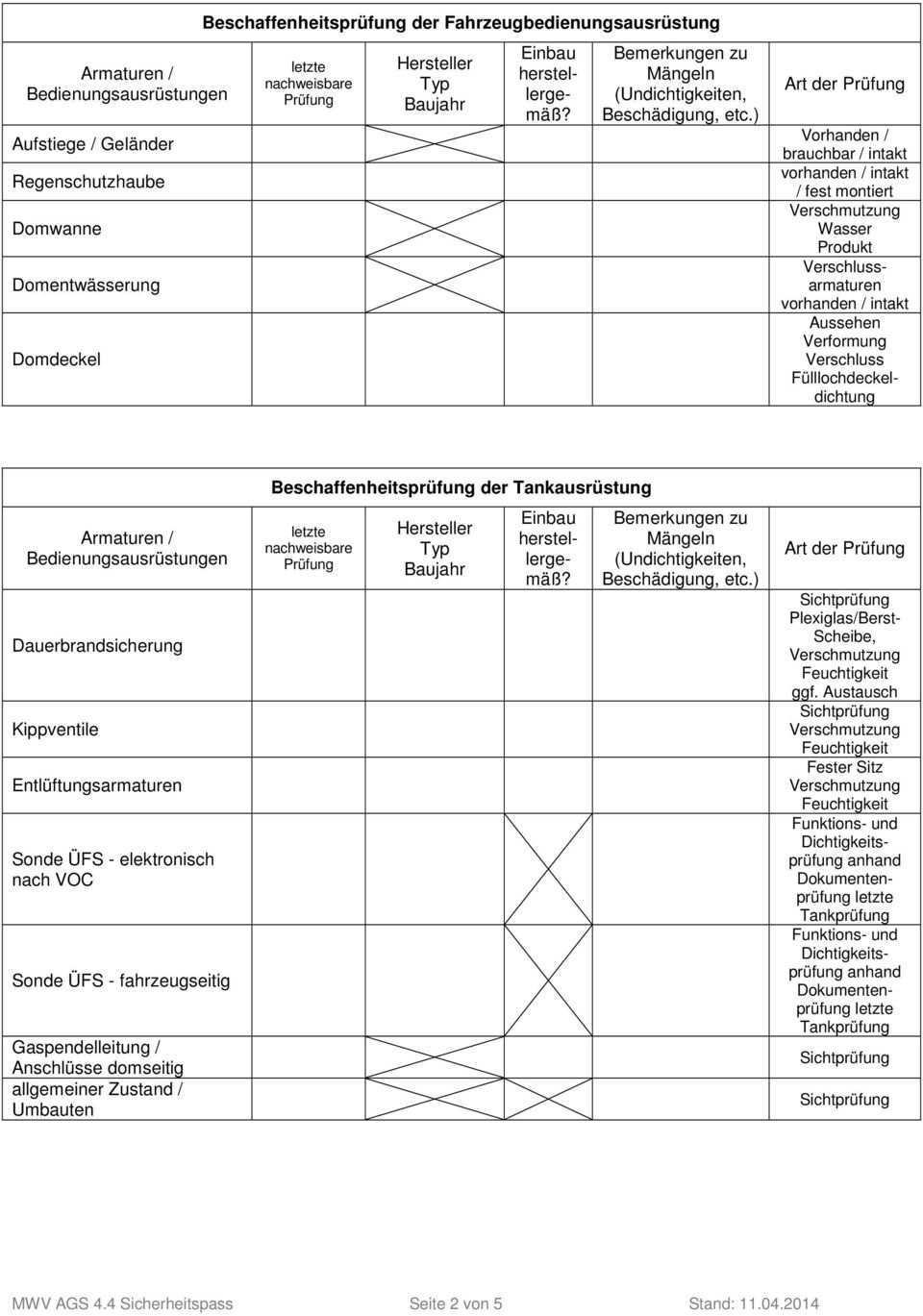 Muster Checkliste Zur Betreiberbescheinigung Checkliste Zur Uberprufung Der Be Und Entladeinrichtungen Gemass Betreiberbescheinigung Pdf Kostenfreier Download