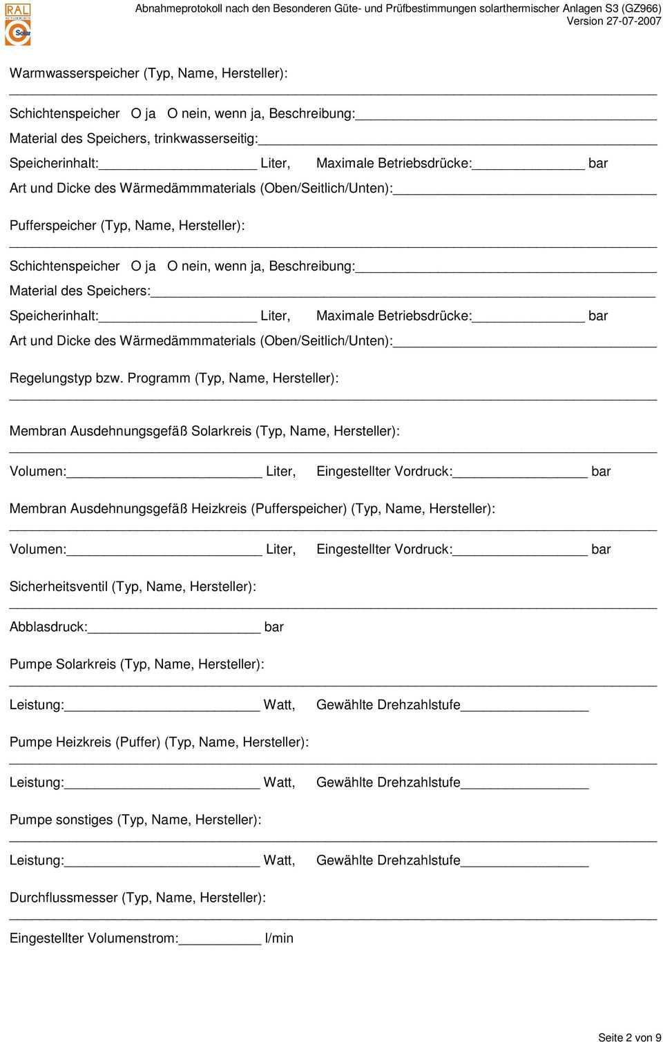 Abnahmeprotokoll Allgemeine Angaben Kunde Firma Ansprechpartner Standort Der Anlage Falls Nicht Identisch Mit Anschrift Des Kunden Pdf Free Download