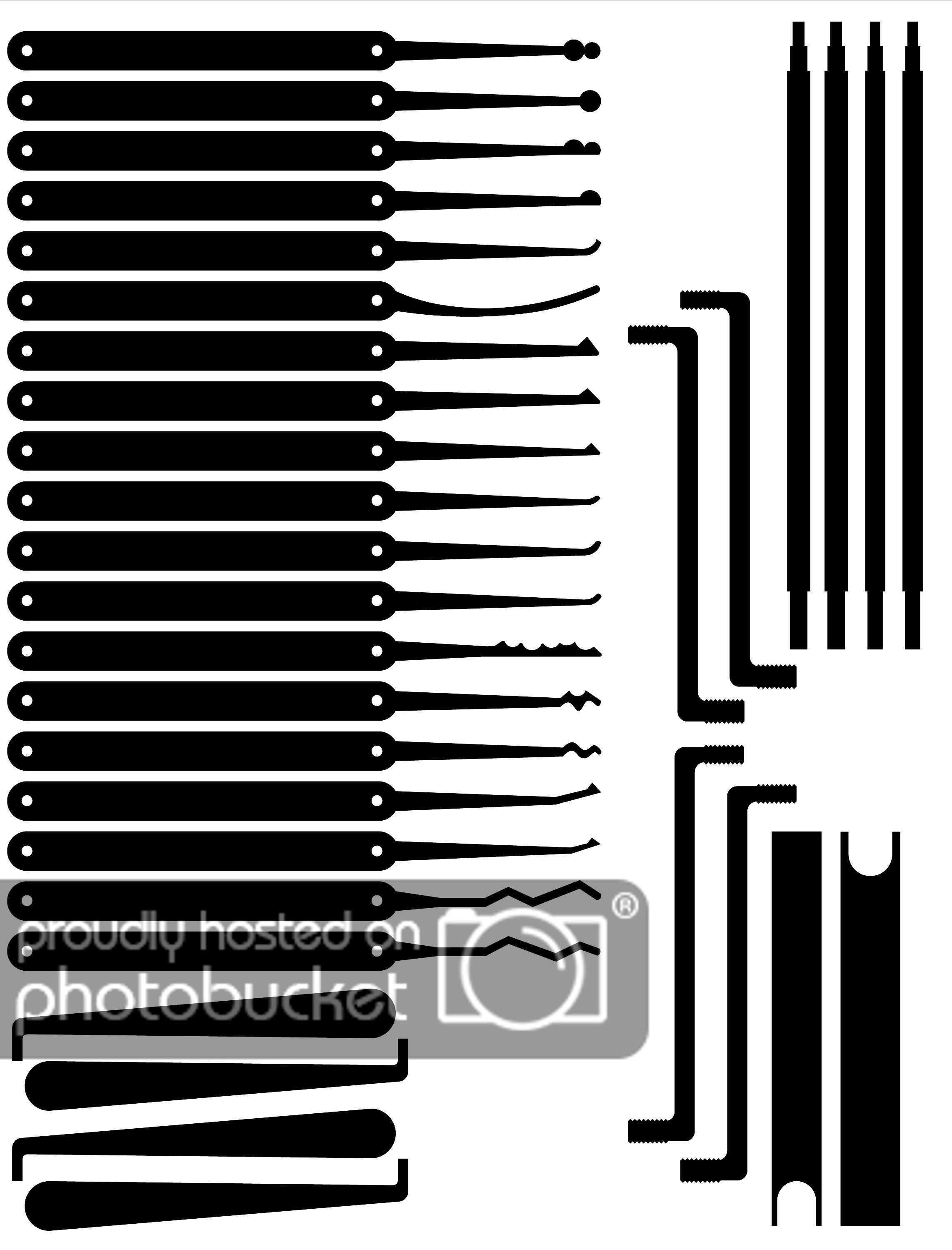 Free Printable Lock Pick Templates Templates Printable Free Diy Lock Free Printables
