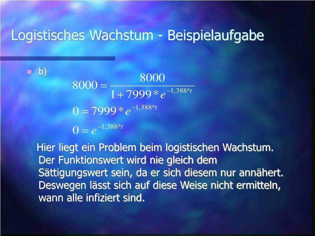 Ppt Logistisches Wachstum Powerpoint Presentation Free Download Id 5732203