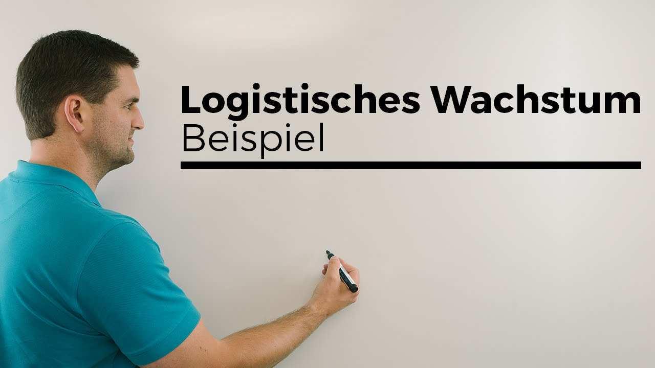 Logistisches Wachstum Nachtrag Beispiel Teil 1 Mathe By Daniel Jung Youtube