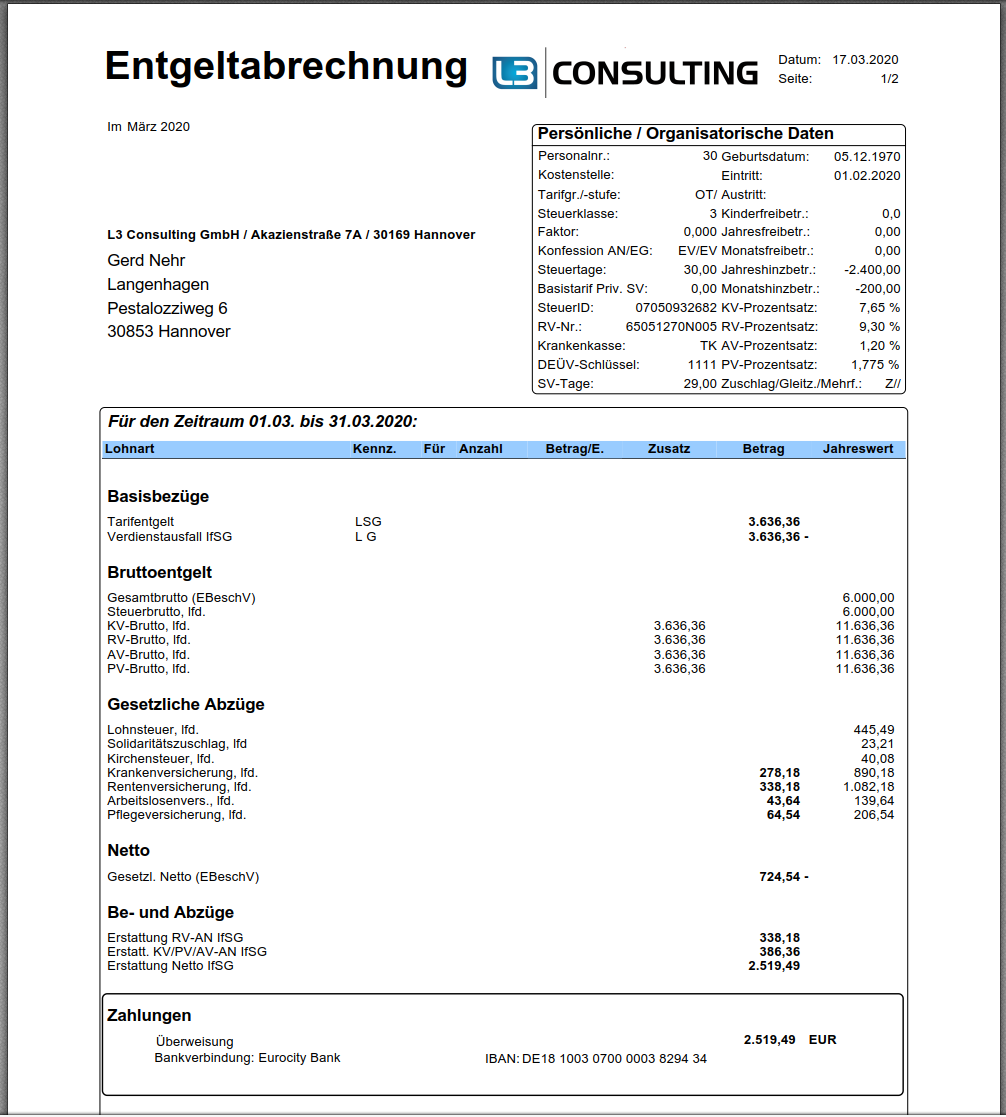 Abrechnung Erstattung Nach Infektionsschutzgesetz Im Sap Hcm L3 Consulting Gmbh