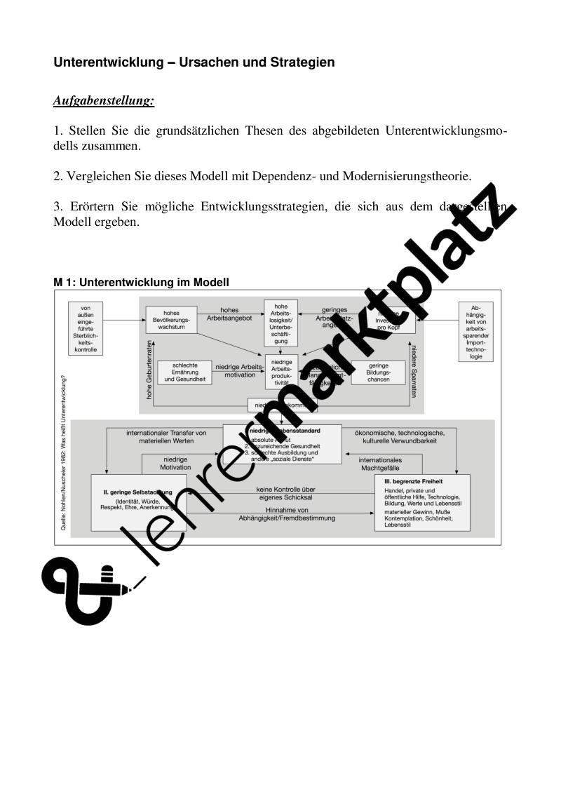 Entwicklungstheorien Unterrichtsmaterial Im Fach Erdkunde Erdkunde Theorie Lehrmaterial