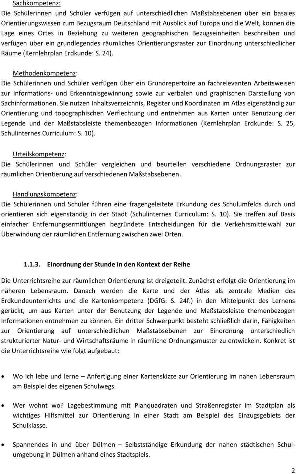 Unterrichtsentwurf Fur Den 5 Unterrichtsbesuch Im Fach Erdkunde Pdf Kostenfreier Download