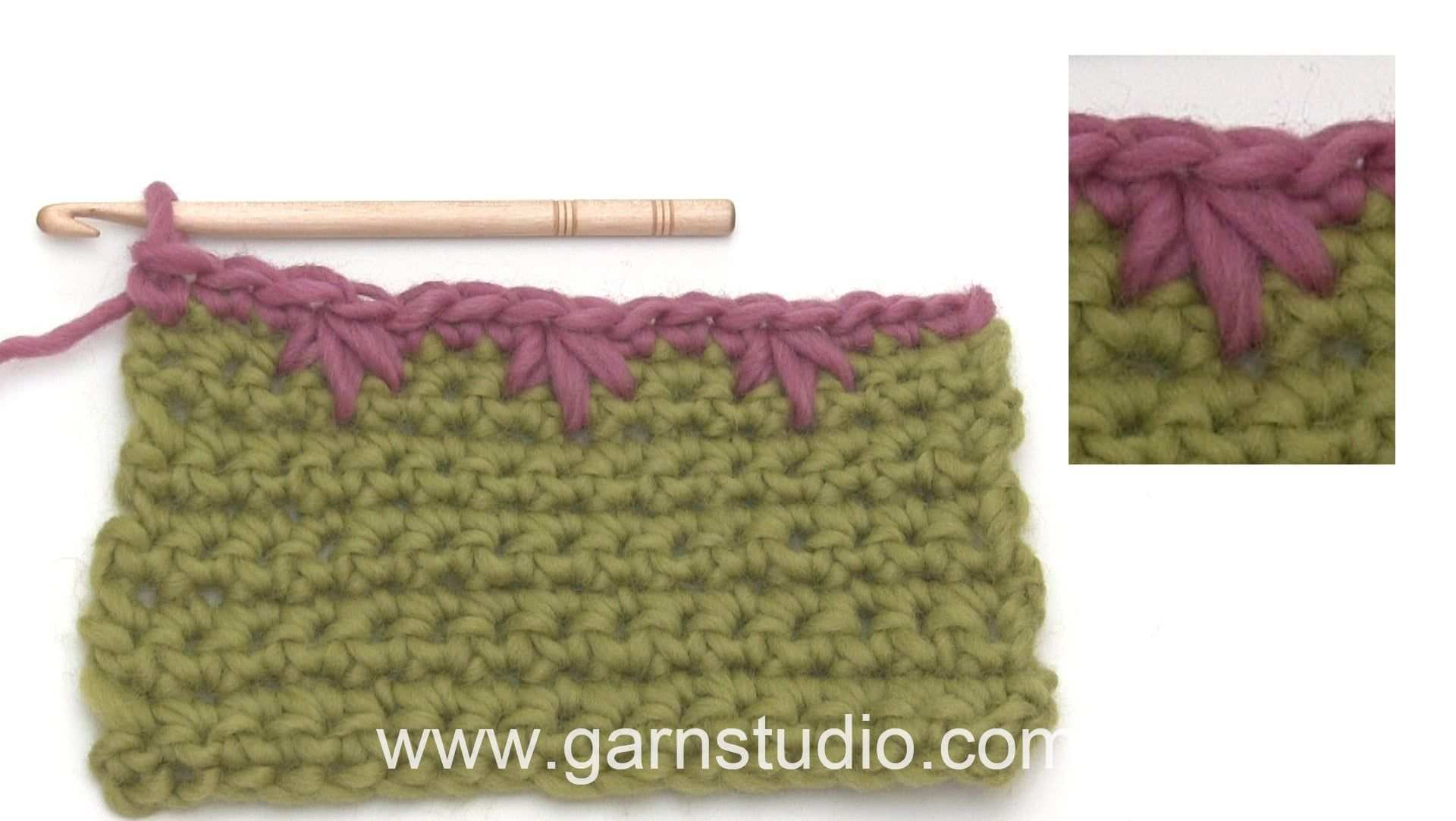 How To Crochet A Simple But Nice Edge With Buttonhole Stitches Strickmuster Loop Hakeln