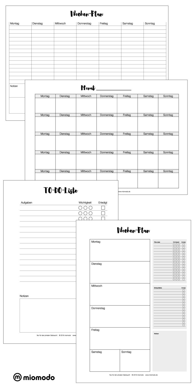 Kalender Zum Ausdrucken Wochen Und Monatsplan Diy Blog Kalender Zum Ausdrucken Monatsplaner Druckbarer Wochenplaner