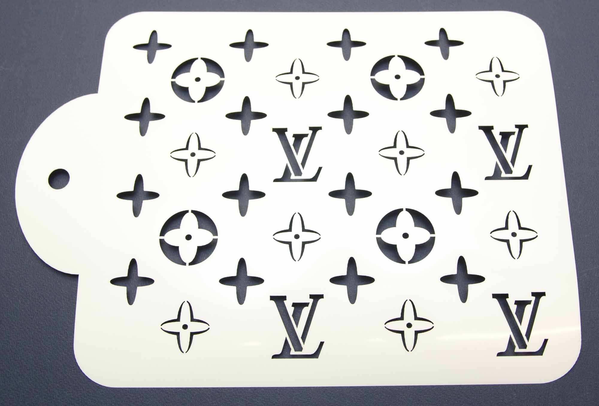 Designer Louis Vuitton Cake Decorating Stencil Www Lollipopcakesupplies Com Au Violetta Torte Backformen Und Geburtstagstorte