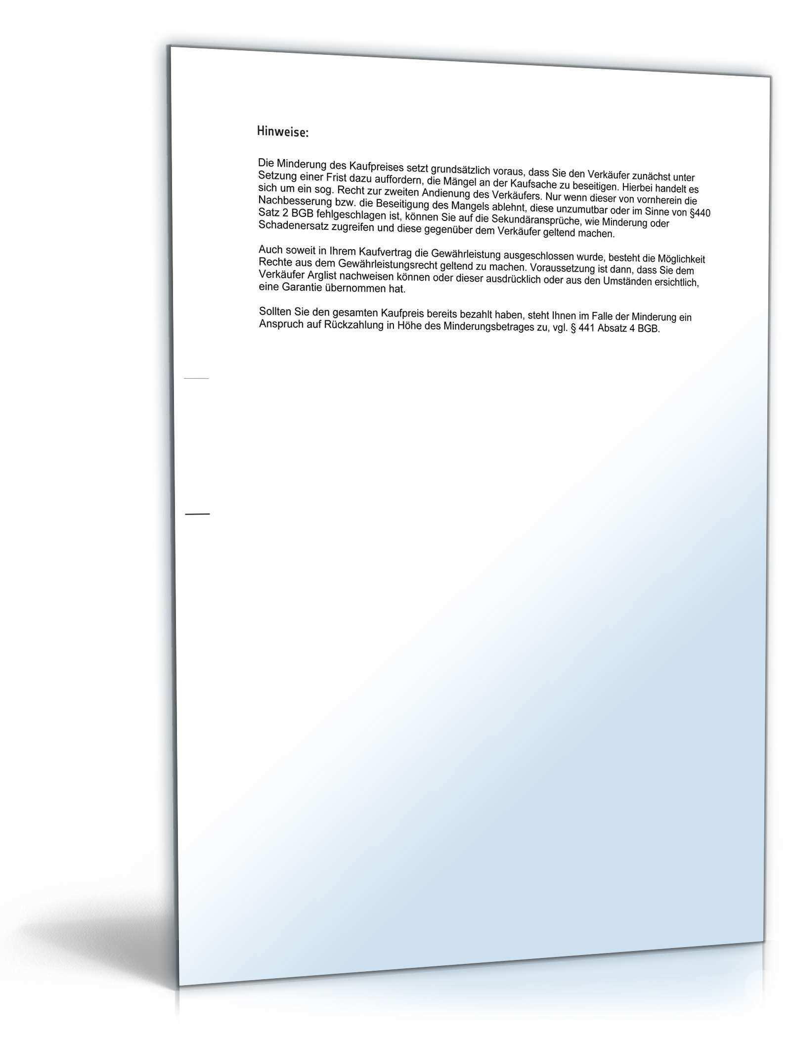 Mangelanzeige Gegenuber Verkaufer Muster Vorlage Zum Download