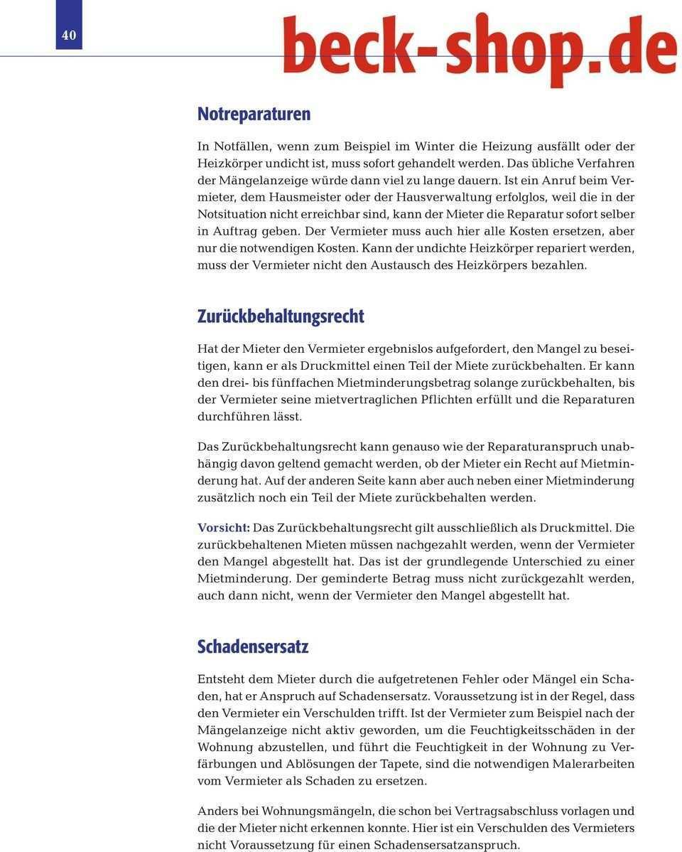 Kapitel 6 Mangel Reparatur Mietminderung Pdf Free Download