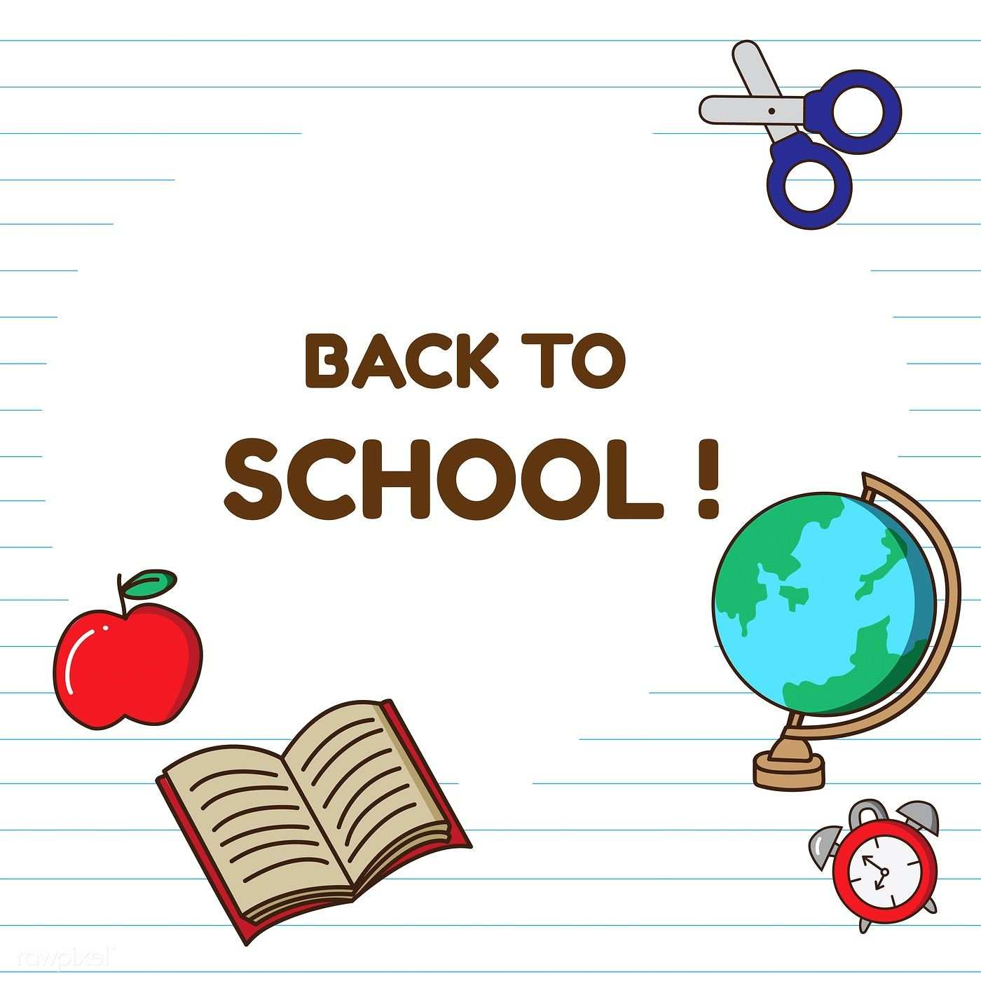 Back To School Stationery Vector Set Free Image By Rawpixel Com Nap Vector Back To School Stationery School Banner School Stationery
