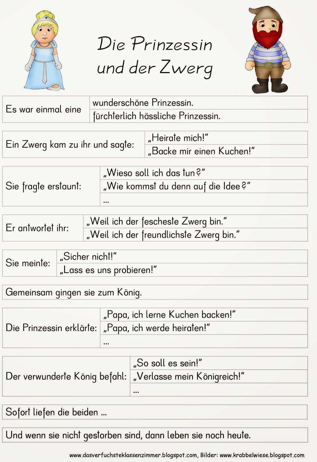 Das Verfuchste Klassenzimmer Entscheidungsgeschichte Die Prinzessin Und Der Zwerg Marchen Grundschule Ideen Fur Das Klassenzimmer Gedichte Fur Kinder