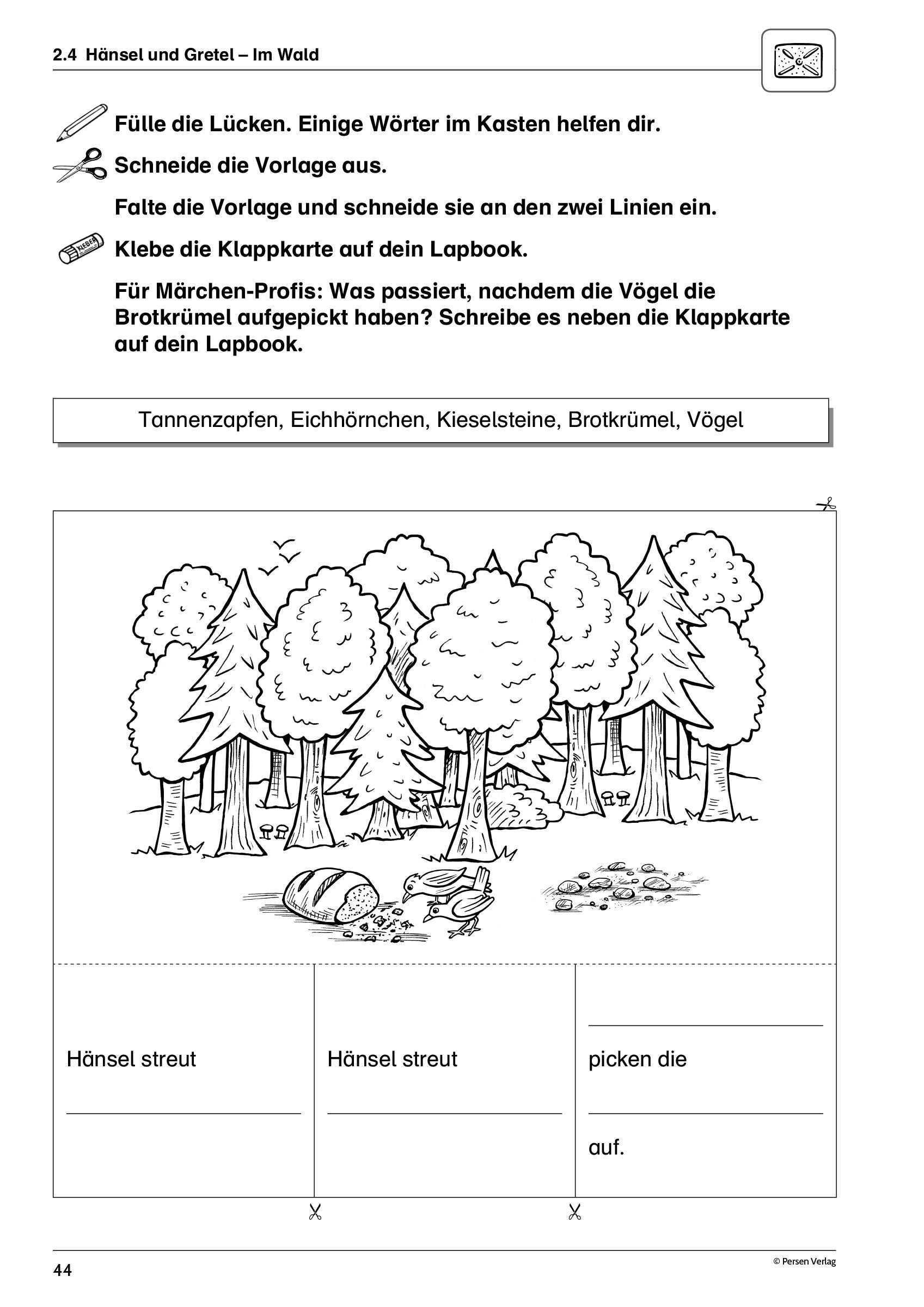 Lapbooks Marchen 1 4 Klasse Marchen Grundschule Grundschule Unterrichtsvorbereitung