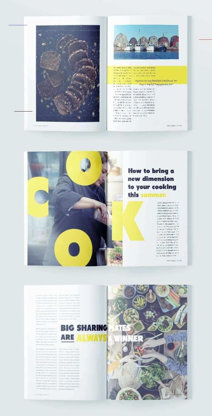 Essen Magazin Vorlage Magazinelayouts In 2020 Magazine Layout Design Magazine Layout Inspiration Food Magazine Layout