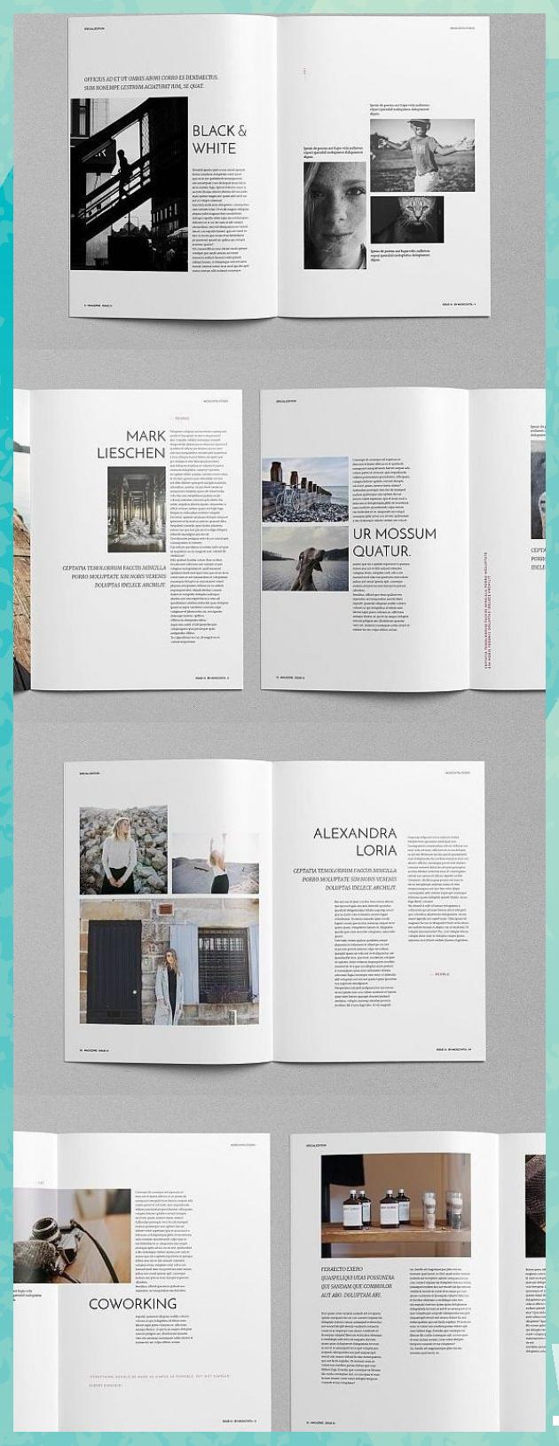 Eko Magazine Vorlage Magazine Broschure Vorlage Brochuretemplate Brochured Eko Magazin In 2020 Magazine Design Inspiration Book Design Layout Magazine Design