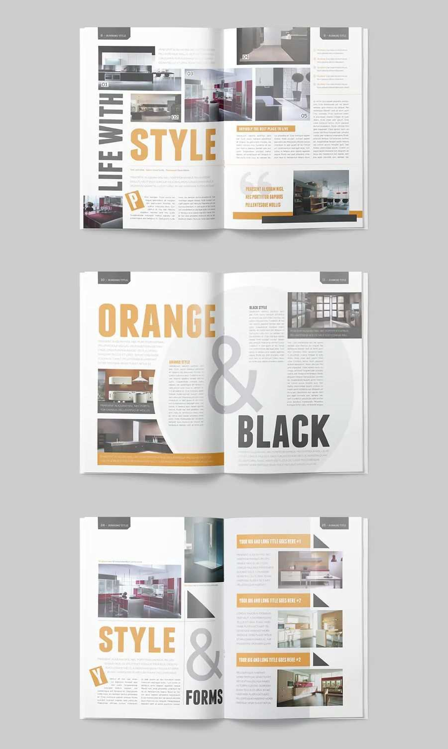 Magazine Template 25 Pages Magazine Template Professional And Clean Indesign Magazine Template Includes 25 In 2020 Magazin Design Broschure Design Bookletgestaltung