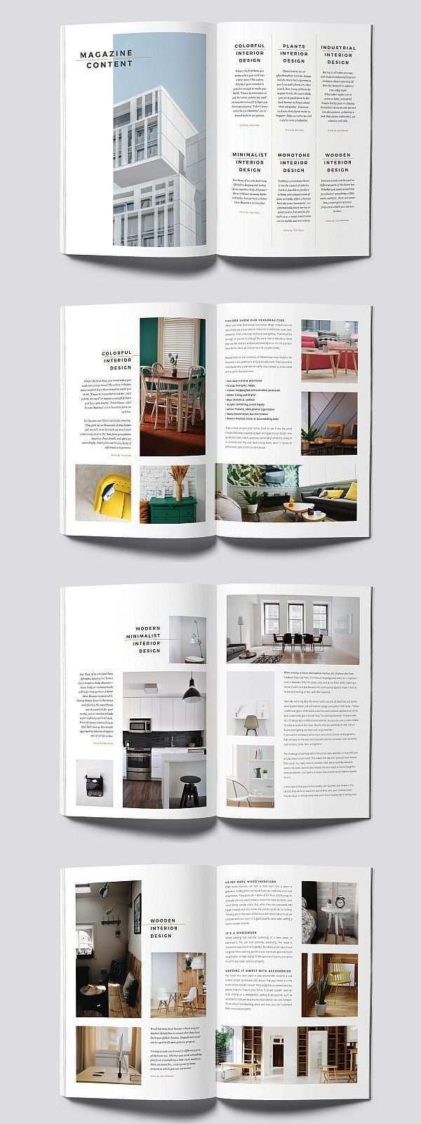 Minimal Interior Magazine Decoration Homedecor Homedesign Homeideas In 2020 Broschure Design Magazin Design Layout Design