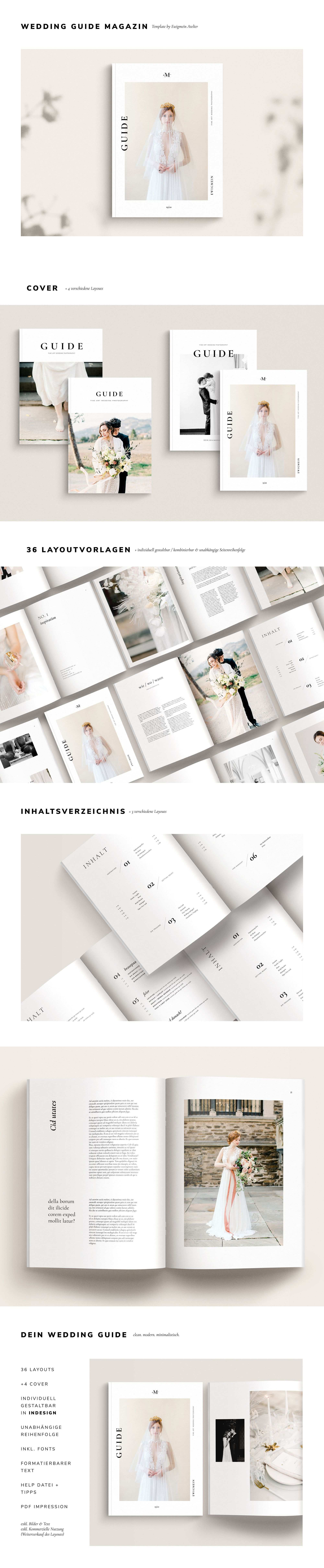 Wedding Guide Magazine Template Hochzeitsmagazin Vorlage Willkommenspaket Fur Hochzeitsfotografen Indesign Datei Instant Download In 2020 Wedding Magazine Template Wedding Guide Magazine Template