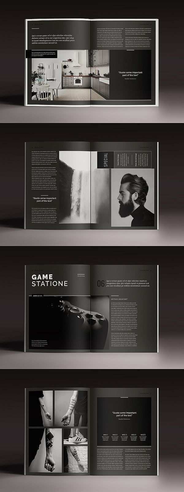 Blackazine Magazin Vorlage Magazine Broschure Broschure Broschure Br Blackazine Br Br Indesign Vorlage Editorial Design Layouts Indesign Vorlagen