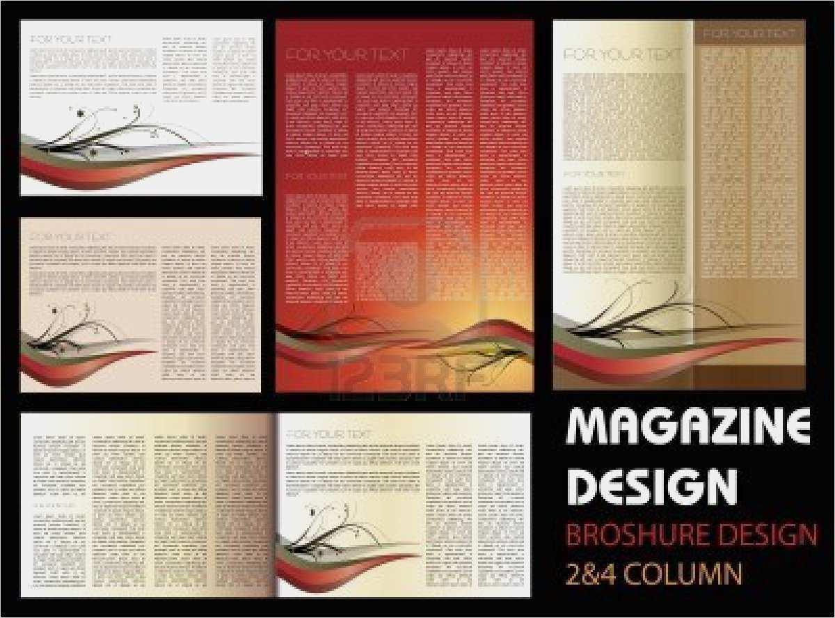 Genial Magazin Layout Vorlagen Foto In 2020 Vorlagen Bild Gutschein Layout